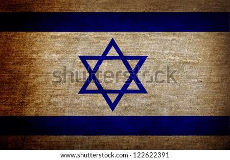 Israel flag background - stock photo