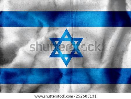 Israel flag themes idea design - stock photo