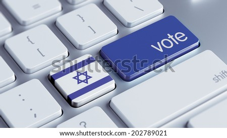 Israel High Resolution Vote Concept - stock photo