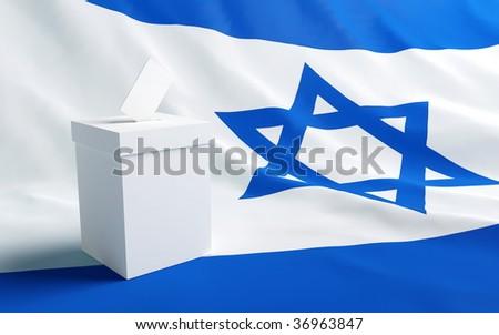 Israel vote - stock photo