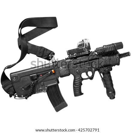 Israeli assault rifle Tavor on white