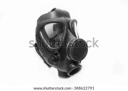 Israeli Gas Mask Side View - stock photo