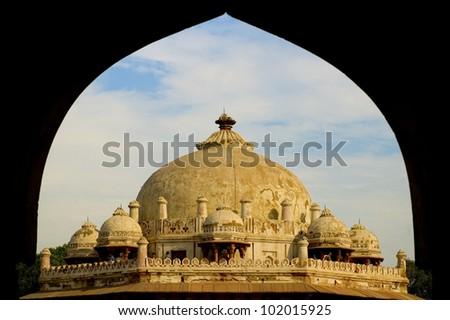 Issa Khan's tomb, New Delhi, India - stock photo