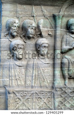 Istambul - The base of the Obelisk of Thutmosis III - stock photo