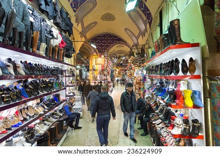 Istambul, Turkey - November 27, 2014: Mall Grand Bazaar (Kapal?cars?) in Istanbul, Turkey