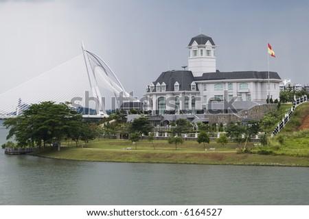 Istana Darul Ehsan, Palace of King of Selangor at Putrajaya, Malaysia - stock photo
