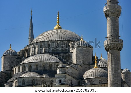 Istanbul blue mosque - stock photo