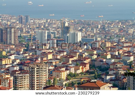 Istanbul city is a concrete case study. Kartal Region - stock photo