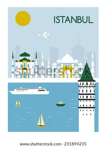 Istanbul city Turkey. - stock photo