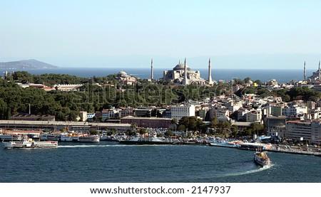 Istanbul cityscape, Turkey - stock photo