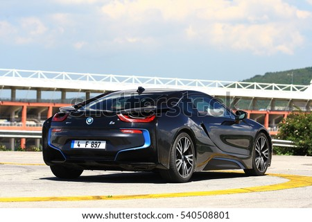 Istanbul december bmw i8 sports car stock photo 540508801 istanbul december the bmw i8 is a sports car made with the progressive electric sciox Image collections