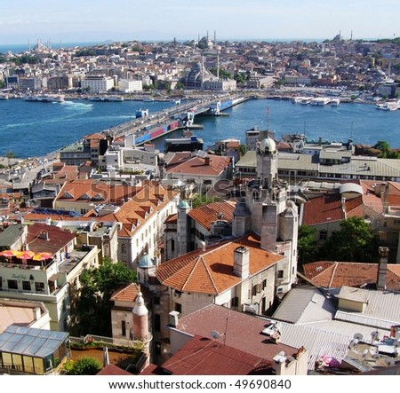 Istanbul from the air - stock photo