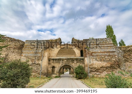 Istanbul Gate of Nicea Ancient City, Iznik - stock photo