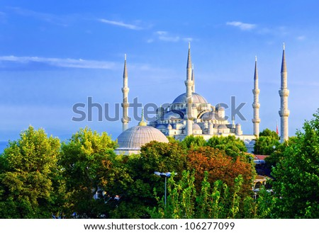 Istanbul in sunset. City landscape. - stock photo