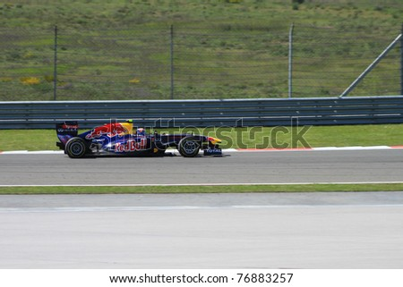 ISTANBUL - MAY 08: Mark Webber drives a RBR Renault team car during 2011 F1 Turkish Grand Prix, Istanbul Park on May 08, 2011 Istanbul, Turkey
