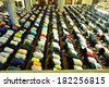ISTANBUL, TURKEY - APRIL 23: Muslims friday during the prayer Tunahan on April 23, 2013 in Istanbul, Turkey. Tunahan the construction of the mosque began in 2000, was opened in 2004. - stock photo