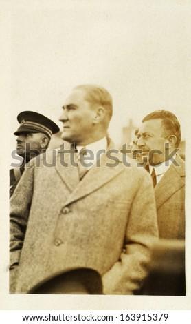 ISTANBUL-Turkey,Cir ca 1920's :Mustafa Kemal Ataturk founder Turkish Republic .Circa 1930's  - stock photo