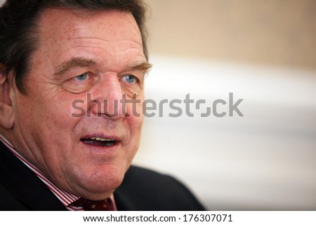 ISTANBUL, TURKEY - DECEMBER 17: German politician Gerhard Schroder portrait on December 17, 2008, Istanbul, Turkey. Gerhard Schroder is Chancellor of Germany from 1998 to 2005.
