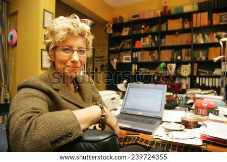 ISTANBUL, TURKEY - FEBRUARY 21: Famous Turkish chemist, forensic experts and  UN International Narcotics Control Board past president Sevil Atasoy portrait on February 21, 2006 in Istanbul, Turkey. - stock photo