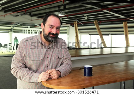 ISTANBUL, TURKEY - JANUARY 3: Famous Turkish businessman and online food ordering company 'Food Basket' (Yemek Sepeti) founder Nevzat Aydin portrait on January 3, 2013 in Istanbul, Turkey.