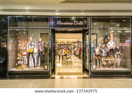 ISTANBUL, TURKEY - JANUARY 01: Massimo Dutti store on January 01, 2012 in Istanbul, Turkey. Massimo Dutti is a company belonging to the Spanish Inditex group dedicated to the manufacturing of clothing