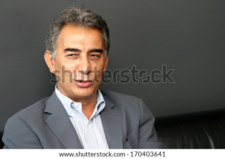 ISTANBUL, TURKEY - JULY 9: Turkish businessman and Galatasaray Sports Club past chairman Adnan Polat portrait on July 9, 2006 in Istanbul, Turkey. Adnan Polat is the 33rd president of Galatasaray.
