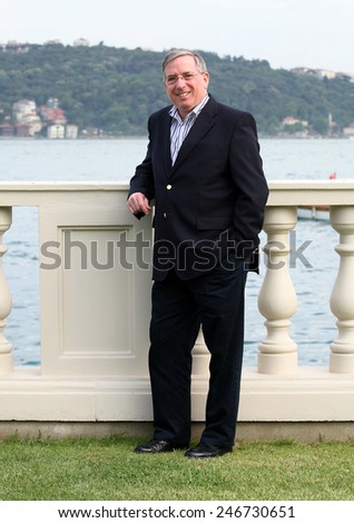 ISTANBUL, TURKEY - JUNE 14: British businessman, accountant and business executive Lewis Booth on June 14, 2008 in Istanbul, Turkey. He was formerly Executive Vice President of Ford Motor Company. - stock photo
