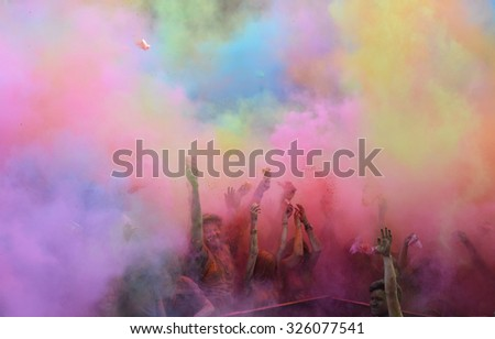ISTANBUL,TURKEY,5 JUNE 2015, Second color festival of Istanbul. - stock photo