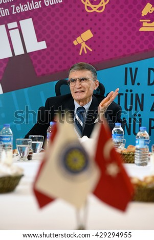 Istanbul, Turkey - May 22 2016: Aziz Sancar who The Nobel Prize in Chemistry 2015. He joined including days in Yildiz Technical University