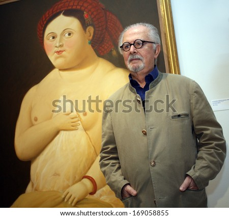 ISTANBUL, TURKEY - MAY 3: Famous Colombian artist Fernando Botero on May 3, 2010 in Istanbul, Turkey. Fernando Botero Angulo (born 1932) is a figurative artist and sculptor from Medellin, Colombia. - stock photo