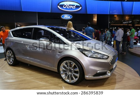 ISTANBUL, TURKEY - MAY 30, 2015: Ford S-Max Vignale Concept in Istanbul Autoshow 2015 - stock photo