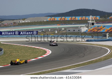 ISTANBUL, TURKEY - MAY 30: GP2 race during Turkish Grand Prix, Istanbul Park on May 30, 2010 Istanbul, Turkey
