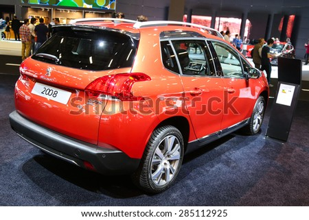 ISTANBUL, TURKEY - MAY 21, 2015: Peugeot 2008 in Istanbul Autoshow 2015