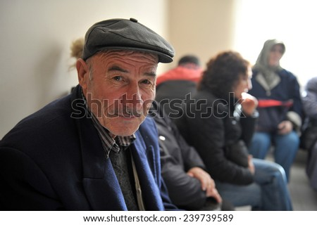 ISTANBUL, TURKEY - NOV 01, 2010: unidentified Patients waiting to be examined at the hospital  on November 01, 2010 Istanbul,Turkey - stock photo