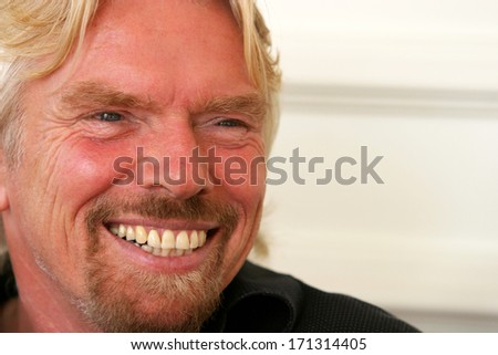 ISTANBUL, TURKEY - NOVEMBER 17: Famous English business magnate Sir Richard Branson on November 17, 2007 in Istanbul, Turkey. He is the founder of Virgin Group, which comprises more than 400 companies - stock photo