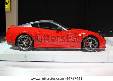 ISTANBUL, TURKEY - NOVEMBER 07: Ferrari 599 GTO at 13th International Auto Show on November 07, 2010 in Istanbul, Turkey. - stock photo