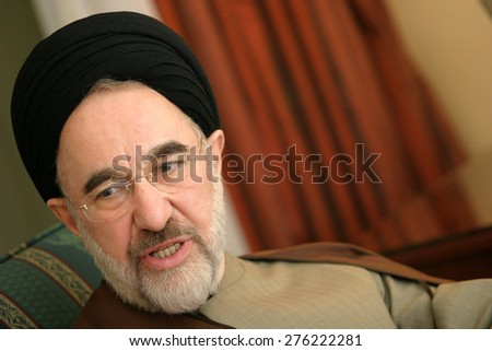 ISTANBUL, TURKEY - NOVEMBER 12: Iranian reformist politician and Shia theologian Mohammad Khatami on November 12, 2006, Istanbul, Turkey. He served as the fifth President of Iran from 1997 to 2005. - stock photo