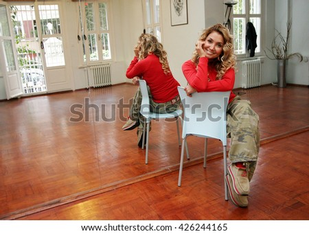 ISTANBUL, TURKEY - OCTOBER 18: Famous Turkish pop singer, actress and dancer Yonca Evcimik portrait on October 18, 2008 in Istanbul, Turkey. - stock photo