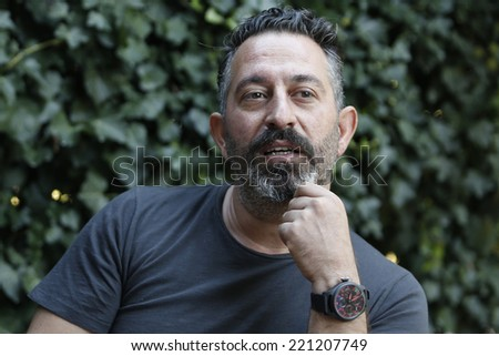 ISTANBUL, TURKEY - SEPTEMBER 30: The portrait of the Turkish famous actor Cem Yilmaz on September 30, 2014 in Istanbul, Turkey.