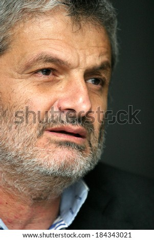 ISTANBUL, TURKEY � SEPTEMBER 16: Turkish journalist, book author and cartoonist, Salih Memecan on September 16, 2008 in Istanbul, Turkey.