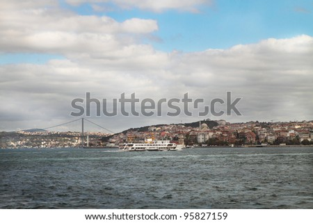 Istanbul view . Turkey travel architecture background - stock photo