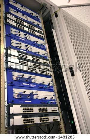 IT Equipment at Datacenter - stock photo