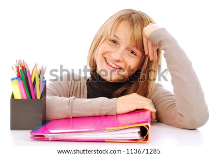 It goes back to school - 110 - stock photo