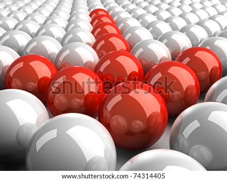 It is a lot of 3d color spheres - stock photo
