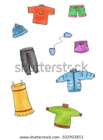 it is a lot of different clothes - stock photo