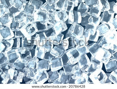 It is a lot of ice cubes - stock photo