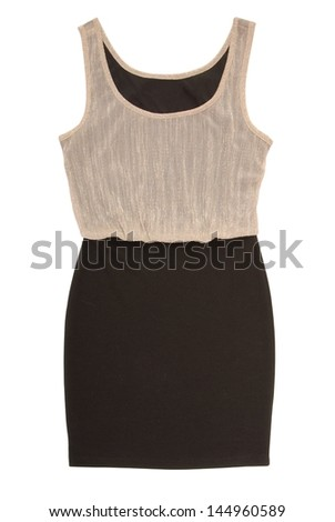 It is a shining evening dress.  - stock photo