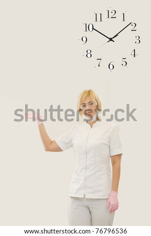 It is a time for examination by a doctor - stock photo
