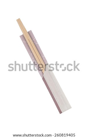 It is Chop sticks isolated on white. - stock photo