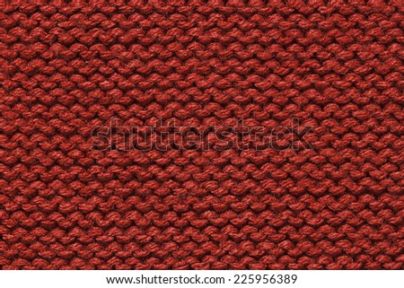 It is Dark Red knitting wool texture for pattern and background. - stock photo